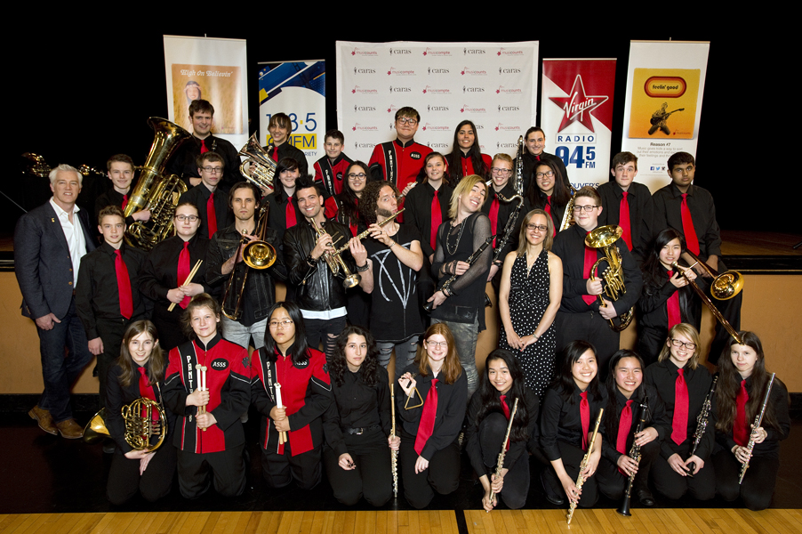 2016 MusiCounts Band Aid Celebration Abbotsford Senior Secondary School Monday, April 25, 2016. Photo: Jennifer Gauthier